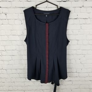TOMMY HILFIGER | sleeveless button up blouse